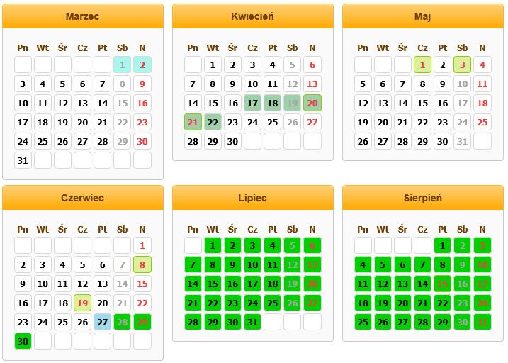 Kalendarz Drzewa PDF Download - JerkTitos